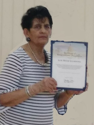 Jeanne Recognized by Senator Chu